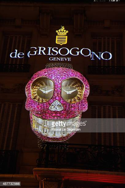 General view of atmosphere is seen during the launch of the De Grisogono 'Crazy Skull' watch on October 23 2014 in Paris France