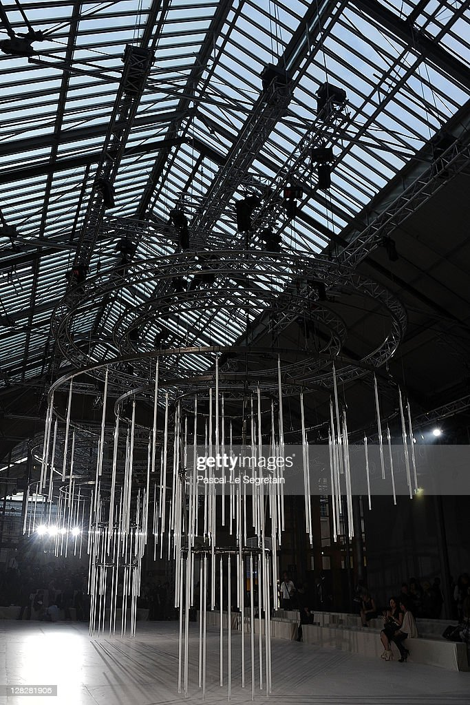 A general view of atmosphere is seen prior to the Alexander McQueen Ready to Wear Spring / Summer 2012 show during Paris Fashion Week on October 4, 2011 in Paris, France.