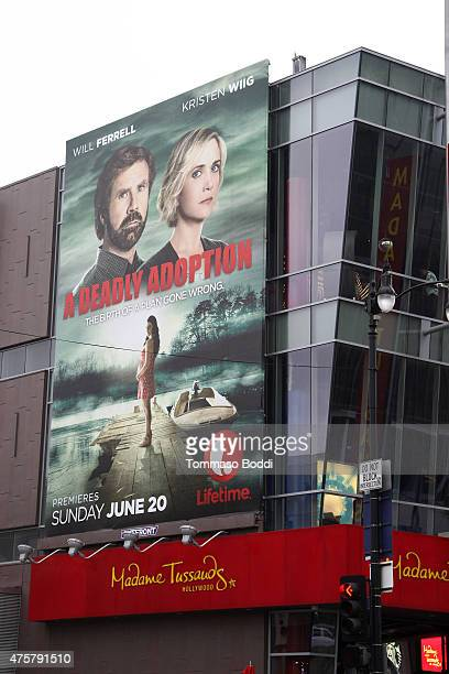 A general view of atmosphere of 'A Deadly Adoption' Billboard on Hollywood Boulevard on June 3 2015 in Hollywood California