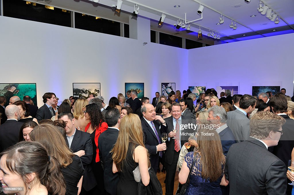 A general view of atmosphere of Omega At The Oceana Ball at Christie's on April 8, 2013 in New York City.