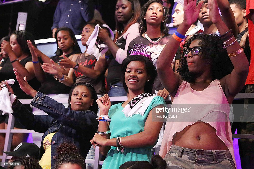 General view of atmosphere of the audience at BET's 106 and Park at BET Studios on July 24, 2013 in New York City.