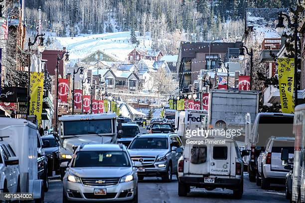 A general view of atmosphere on Main Street during the 2014 Sundance Film Festival on January 21 2015 in Park City Utah