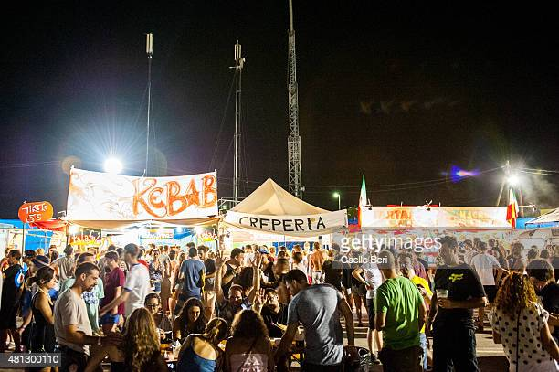 General view of atmosphere on the third day of FIB Benicassim Festival on July 18 2015 in Benicassim Spain