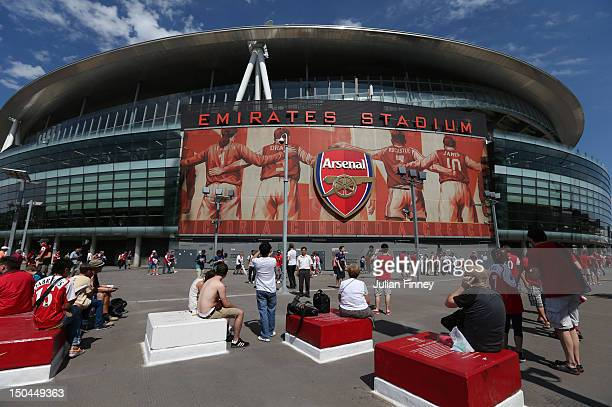 A general view of atmosphere outside Emirates Stadium prior to the Barclays Premier League match between Arsenal and Sunderland at Emirates Stadium...