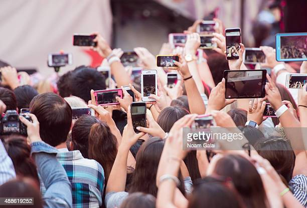 General view of atmosphere outside of Macys Herald Square during 'ARI By Ariana Grande' fragrance launch event on September 16 2015 in New York City