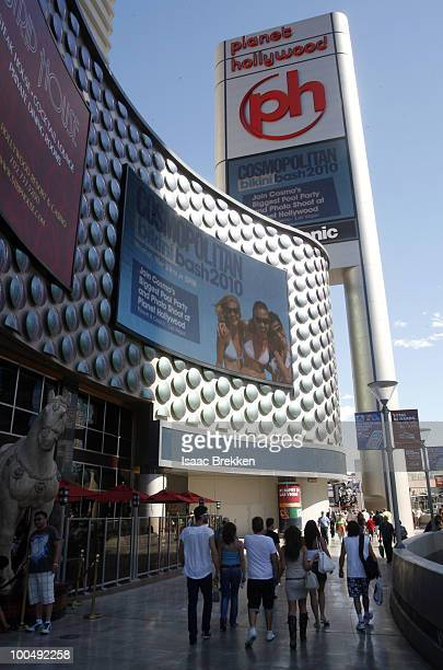 General view of atmosphere outside Planet Hollywood Resort Casino during Cosmopolitan Magazine's third annual Bikini Bash at the Planet Hollywood...