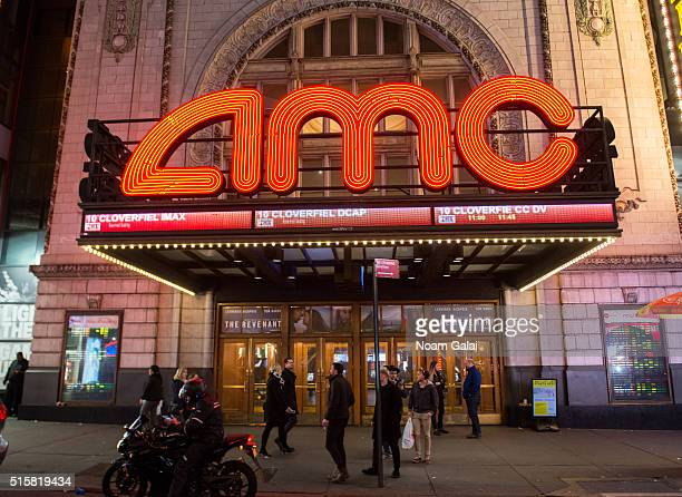 General view of atmosphere outside the AMC Empire 25 theater on March 15 2016 in New York City