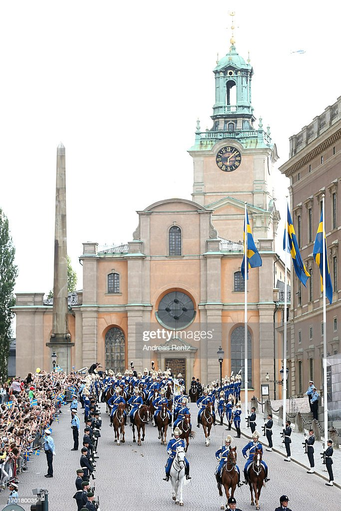 A general view of atmosphere outside the wedding of Princess Madeleine of Sweden and Christopher O'Neill hosted by King Carl Gustaf XIV and Queen Silvia at The Royal Palace on June 8, 2013 in Stockholm, Sweden.