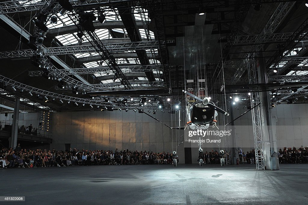 A general view of atmosphere prior to the Givenchy show as part of the Paris Fashion Week Menswear Spring/Summer 2015 on June 27, 2014 in Paris, France.
