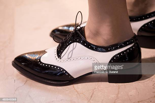 General view of atmosphere shoe detail prior the YDE show as part of the Paris Fashion Week Womenswear Fall/Winter 2015/2016 on March 11 2015 in...