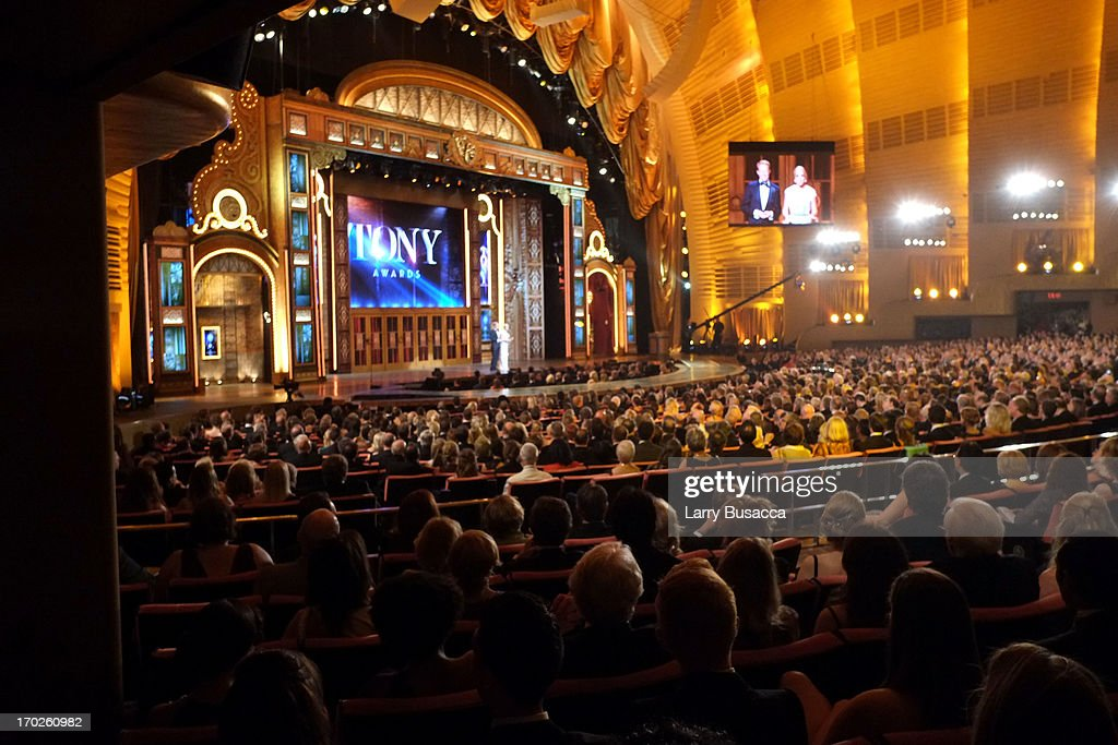 A general view of atmosphere The 67th Annual Tony Awards Green Room at Radio City Music Hall on June 9, 2013 in New York City.