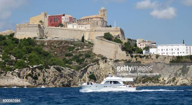 A general view of atmosphere with during the scattering of Angel Nieto's ashes into the Mediterranean sea on August 6 2017 in Ibiza Spain