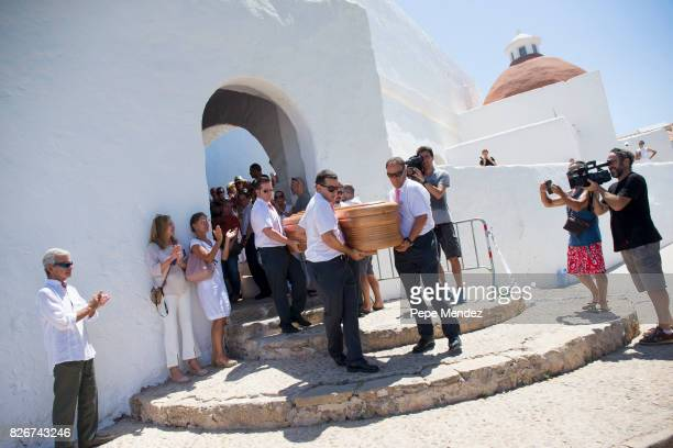 A general view of atmosphere with guests during the funeral at Parroquia de Santa Eularia on August 5 2017 in Ibiza Spain