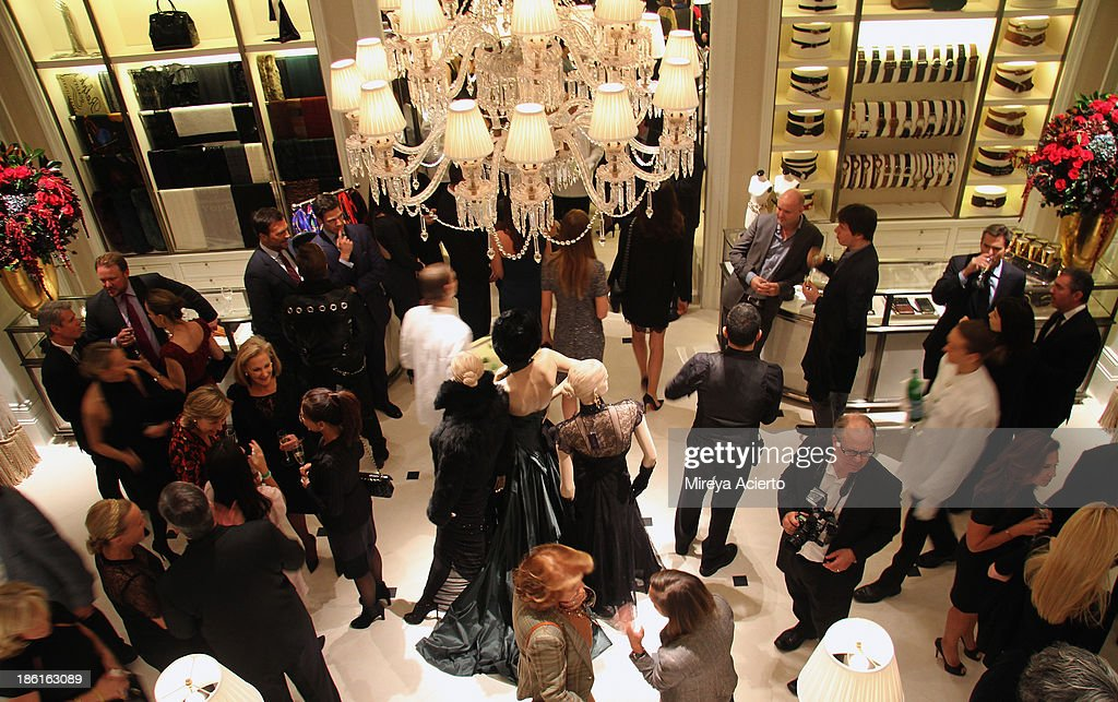 A general view of atmpshere during Ralph Lauren Presents Exclusive Screening Of Hitchcock's To Catch A Thief Celebrating The Princess Grace Foundation at Ralph Lauren Women's Store on October 28, 2013 in New York City.