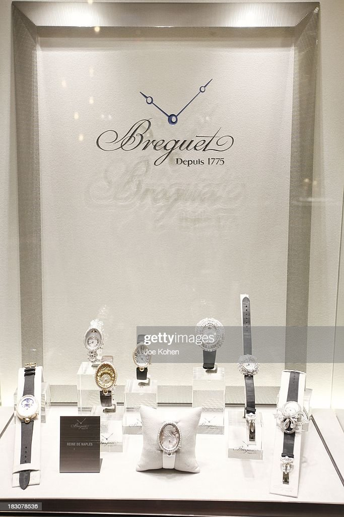 General view of atmpsphere at the 'Breguet The Innovator. Inventor Of The Tourbillion' Global traveling exhibition at Breguet Boutique on October 3, 2013 in Beverly Hills, California.