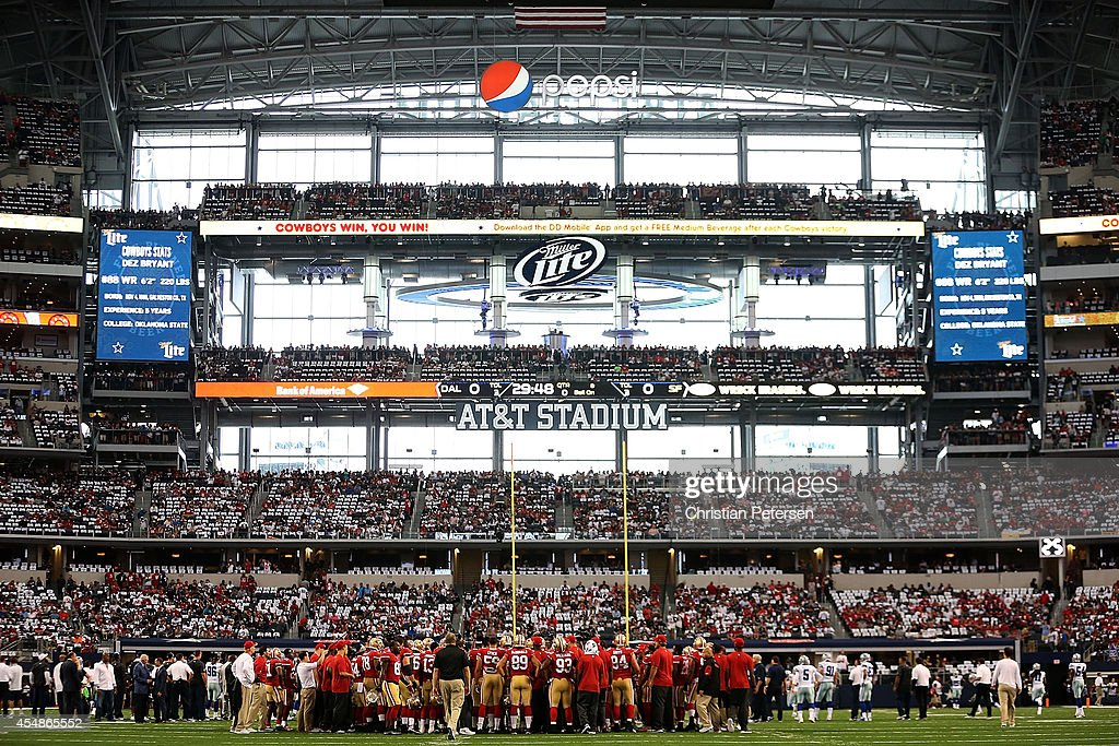 A general view of ATT Stadium before the game between the Dallas Cowboys and the San Francisco 49ers on September 7 2014 in Arlington Texas