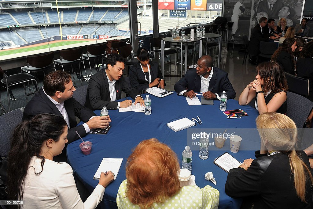 A general view of attendees during Beyond Sport United - Workshops & Panels at Yankee Stadium on June 11, 2014 in the Bronx borough of New York City.