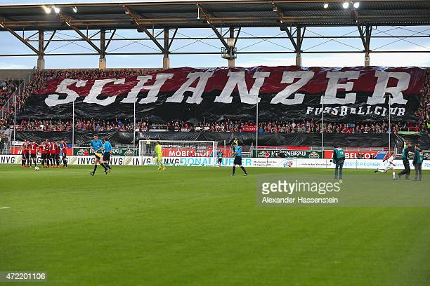General view of Audi Sportpark during the Second Bundesliga match between FC Ingolstadt and 1 FC Nuernberg at Audi Sportpark on April 4 2015 in...