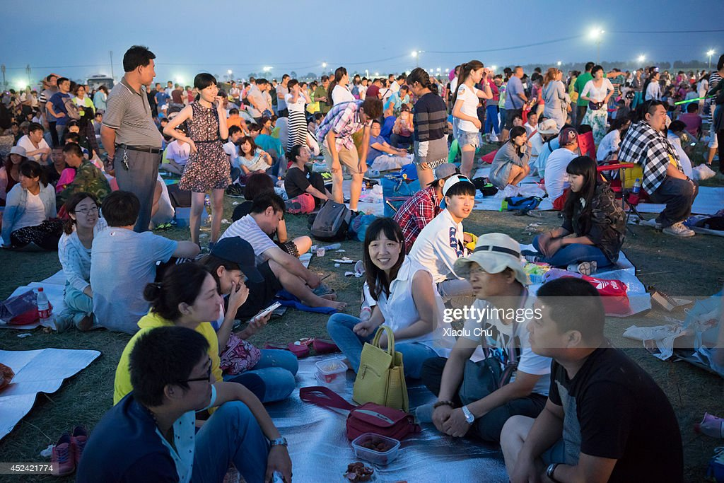 A general view of audience in 2014 Zhangbei Grassland Music Festival on July 19, 2014 in Beijing, China. Zhangbei Grassland Music Festival which located at Hebei Province is one the top music festival in China, the festival takes 'Go Wild' as its slogan and blends natural grassland ecology and a low-carbon lifestyle.
