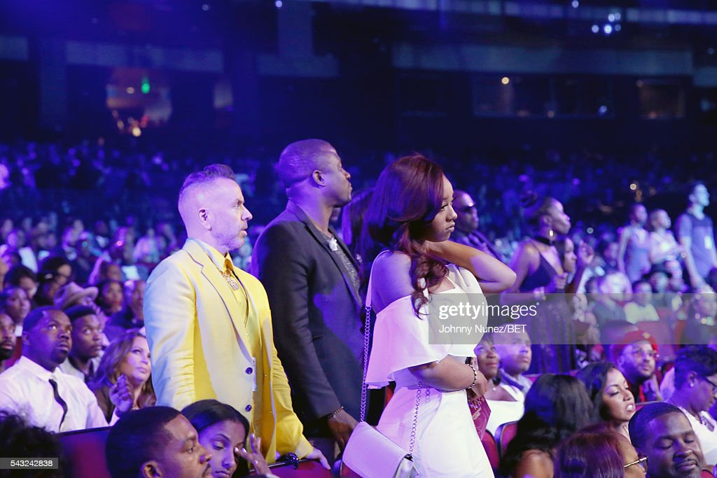 A general view of audience members during the 2016 BET Awards at the Microsoft Theater on June 26, 2016 in Los Angeles, California.