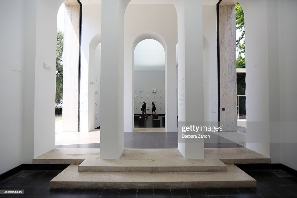 General view of Austrian Pavilion at Giardini during the opening of The 14th International Architecture Exhibition on June 4 2014 in Venice Italy