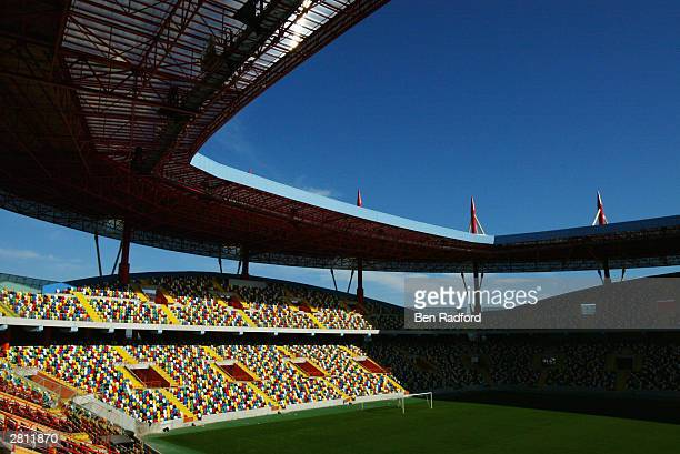 A general view of Aveiro Municpal Stadium Aveiro Portugal One of the venues for the European Championships in 2004