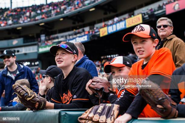 A general view of Baltimore Orioles fans before the game between the Baltimore Orioles and the Chicago White Sox at Camden Yards on May 7 2017 in...