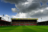 A general view of Banks's stadium before the pre season friendly between Walsall and Aston Villa at Banks' Stadium on July 25 2015 in Walsall England