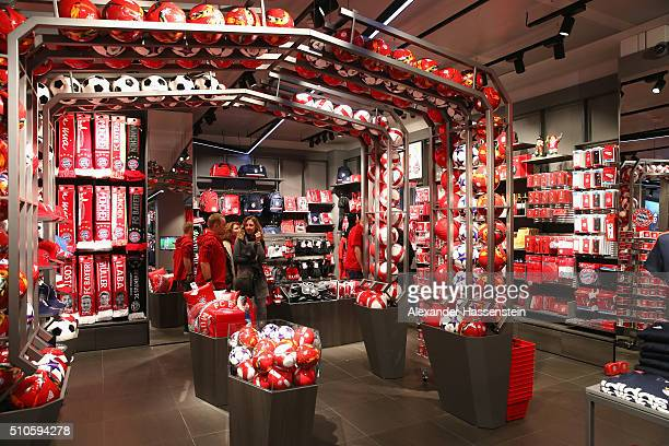 bayern munich fan shop stock photos and pictures getty images. Black Bedroom Furniture Sets. Home Design Ideas