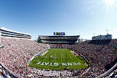 A general view of Beaver Stadium during the game between Indiana and Penn State on October 10 2015 at Beaver Stadium in State College Pennsylvania