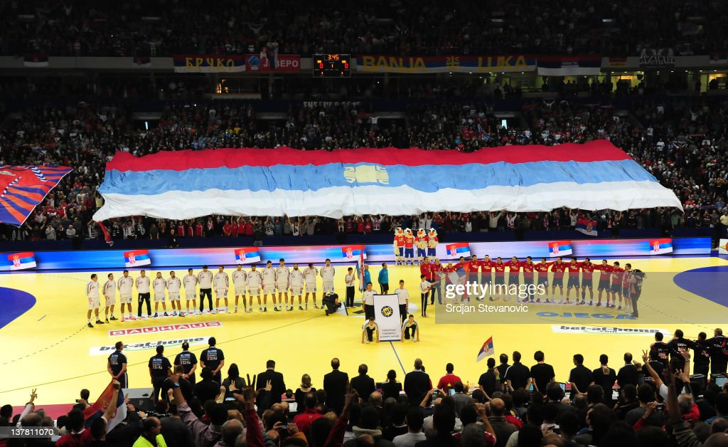 General view of Belgrade before the Men's European Handball Championship 2012 semifinal match between Serbia and Croatia at Arena Hall on January 27, 2012 in Belgrade, Serbia.