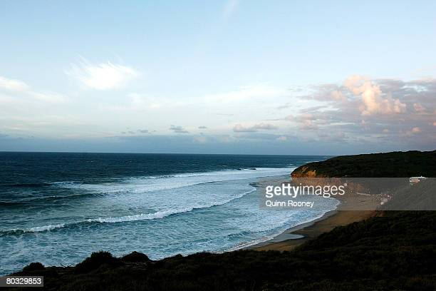 A general view of Bells Beach before the start of Round One of the Rip Curl Pro as part of the ASP World Tour held at Bells Beach March 21 2008 in...