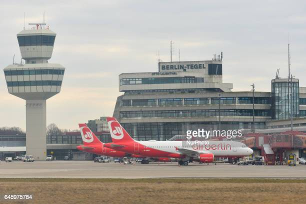 A general view of Berlin Tegel Airport with AirBerlin planes in front of the main terminal On Monday February 27 Berlin Germany