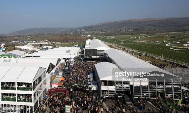 A general view of betway signage and branding during St Patrick's Thursday at the 2016 Cheltenham Festival at Cheltenham Racecourse