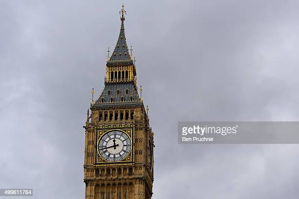 A general view of Big Ben on December 2 2015 in London England British MPs are expected to vote tonight on whether to back UK airstrikes on Islamic...