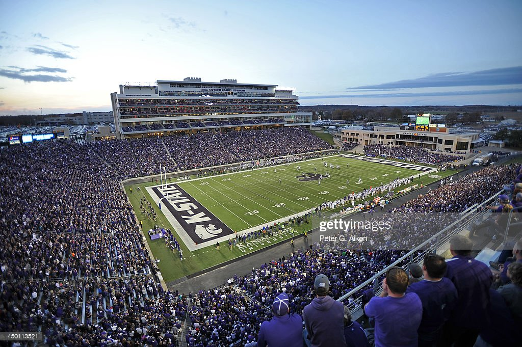 A general view of Bill Snyder Family Stadium during a game between the Kansas State Wildcats and the TCU Horned Frogs on November 16, 2013 at Bill Snyder Family Stadium in Manhattan, Kansas. Kansas State defeated TCU