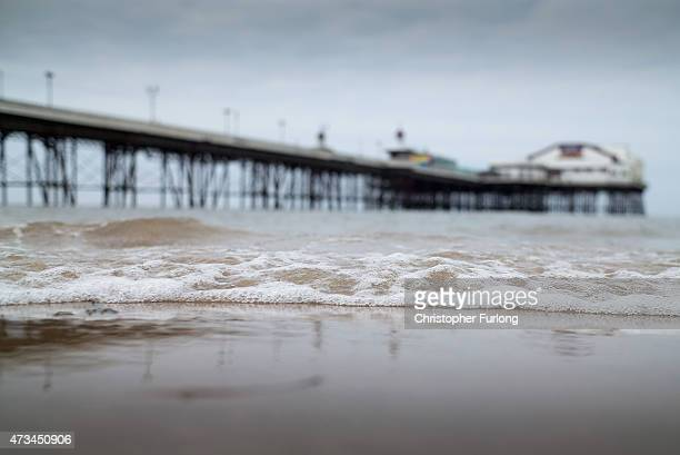 A general view of Blackpool beach which is at risk of failing to meet European Union water quality standards on May 15 2015 in Blackpool England...