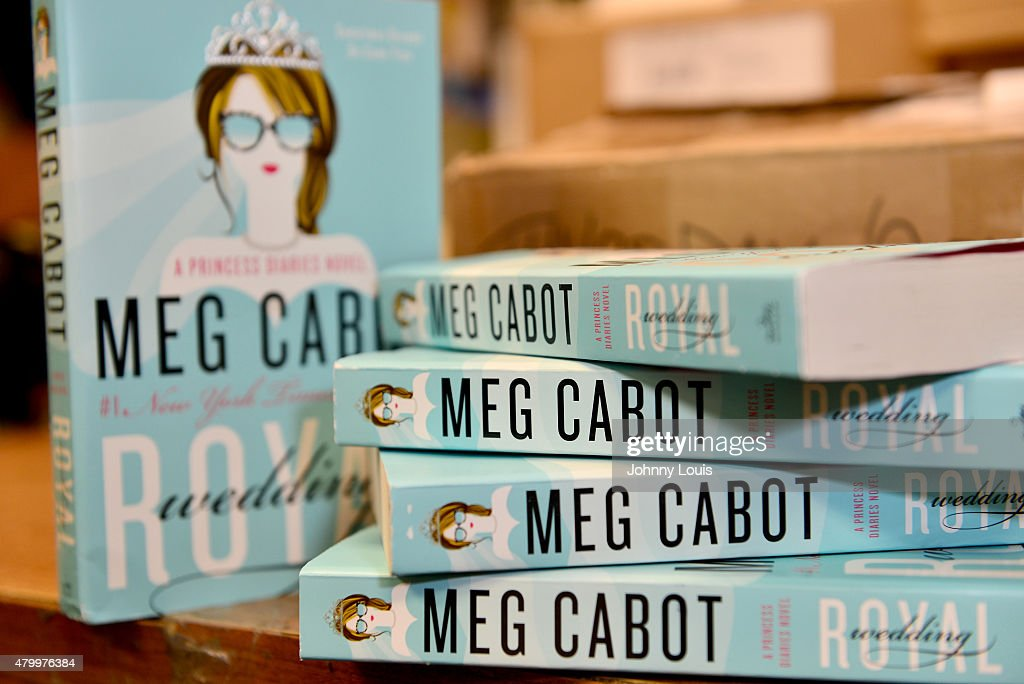 General view of books on display during Author Meg Cabot greets fans and signs copies of her book 'Royal Wedding: A Princess Diaries Novel' at Books And Books on July 01, 2015 in Coral Gables, Florida.