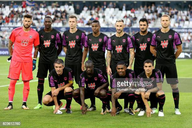 General view of Bordeaux' team before the UEFA Europa League qualifying match between Bordeaux and Videoton at Stade Matmut Atlantique on July 27...