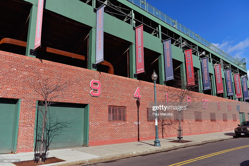 A general view of Boston's Fenway Park, home of the Red Sox, on December 7, 2013 in Boston.