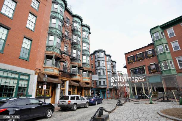 A general view of Boston's North Park Square in Boston's Historic North End on March 3 2013 in Boston