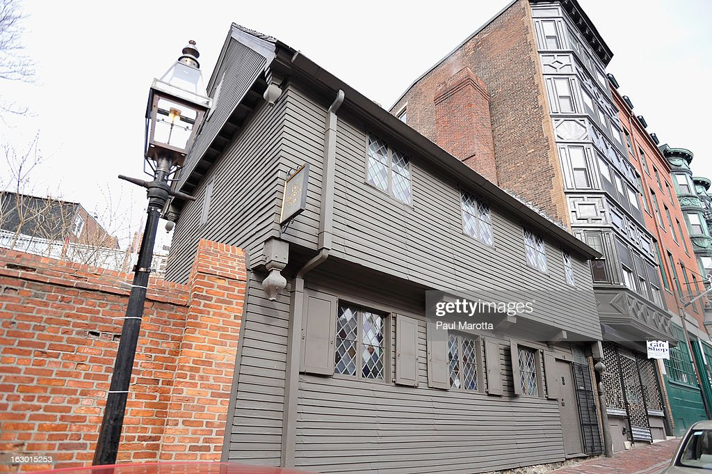 A general view of Boston's Paul Revere House in Boston's historic North End on March 3, 2013 in Boston.
