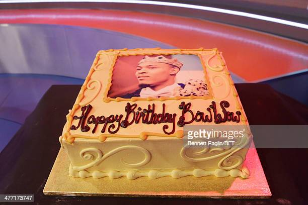 A general view of Bow Wow's birthday cake during 106 Park at BET studio on March 6 2014 in New York City