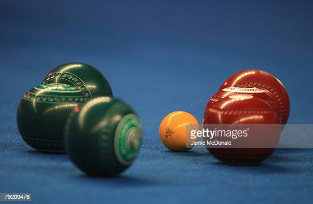 A general view of bowls during the World Indoor Bowls Championships at the Potters Holiday Camp on January 25 2008 in Norwich England