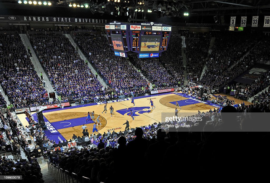 A general view of Bramlage Coliseum during a game between the Kansas State Wildcats and the Kansas Jayhawks on January 22, 2013 in Manhattan, Kansas. Kansas defeated Kansas State 59-55.