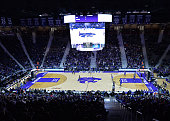 A general view of Bramlage Coliseum during a game between the Kansas State Wildcats and the UMKC Roos on November 17 2014 in Manhattan Kansas