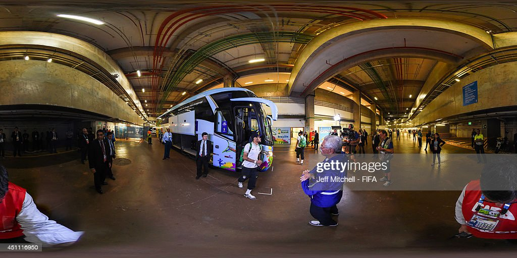 A general view of Brazil team arrival before the 2014 FIFA World Cup Brazil Group A match between Cameroon v Brazil at Estadio Nacional on June 23, 2014 in Brasilia, Brazil.