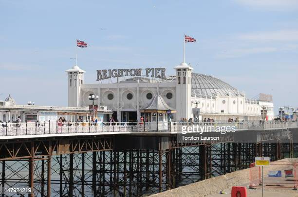 General view of Brighton Pier on July 3 2012 in Brighton England