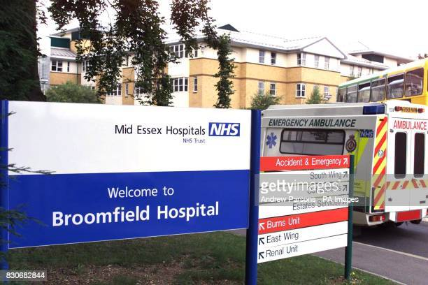 General view of Broomfield Hospiotal Chelmsford in Essex Essex Police told that a police investigation was under way into how oxygen pipes became...