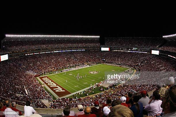 A general view of BryantDenny Stadium during the game between the Alabama Crimson Tide and the Florida Gators on October 2 2010 in Tuscaloosa Alabama